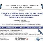 III jornada perspectivas en violencia de genero